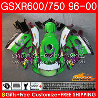 Wholesale 98 srad fairings resale online - Body For SUZUKI SRAD GSXR GSXR750 Green CORONA HC GSX R750 GSXR GSXR600 Fairing kit