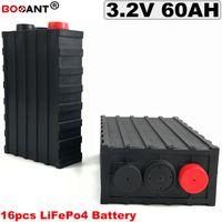 48v elektrische fahrradbatterie geben verschiffen frei großhandel-16Pcs / Lot LiFePO4 60Ah 3.2V Batterie Lithiumeisenphosphatbatterie 12V 36V 48V 60V 60Ah 120Ah für elektrisches Fahrrad Freies Verschiffen