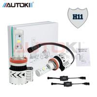 Wholesale conversion car resale online - Autoki Super Bright Led headlight H11 H4 H7 H13 W LM C REE XHP50 LED Car Headlight Conversion Kit Fog Lamp Bulb DRL K