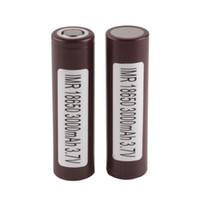 pilhas recarregáveis venda por atacado-Autêntico para LG HG2 18650 Bateria Recarregável 3000 mah 35A Max Discharge Baterias De Drenagem Alta Esmagando Então-ny Fedex Frete Grátis