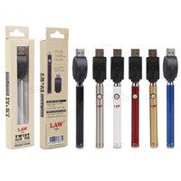 Wholesale bud pens resale online - Authentic Law Preheat VV Battery Vape Pen mAh Bottom Twist Spinner Bud Battery V New Package