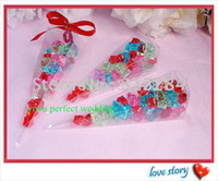 Wholesale shipping xy resale online - Clear PVC Cone Box Party Candy Boxes XY AC