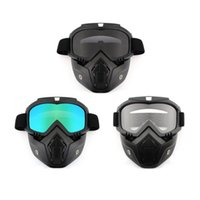 Wholesale anti uv mask for sale - Group buy HotMotorcycle Helmet Motor Riding Face Mask Dust Preventing Helmets Anti UV Goggles Shield Windproof Nose Hot Drop Shipping