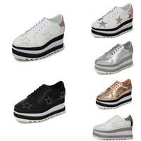 Wholesale star shoes price resale online - 2020 Star Fashion Women Platform Increased Heeled Casual Leather Square Price Platfrom Casual Shoes for Women