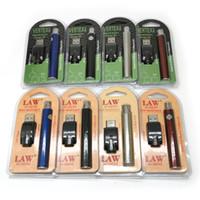 Wholesale Vertex Battery Preheat LAW Battery Kits LO VV Battery Vape Pen Thread Preheating Batteries mah Vaporizer Electronic Cigarettes