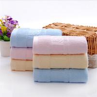 coton d'usine de bambou achat en gros de-Usine gros bambou fibre jacquard forêt de bambou serviette adulte épais coton laver visage serviette