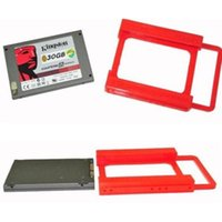 Wholesale ssd mounts resale online - Plastic quot to quot SSD HDD Adapter Mounting Tray Bracket Hard Drive Bay Caddy Office Computer Cables Connectors