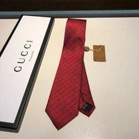 cor da lavanda gravatas venda por atacado-Guc 2019 a gravata dos novos homens é feita de top jacquard de seda gravata artesanal de negócios com um empate que mostra o charme dos homens em uma base diária.