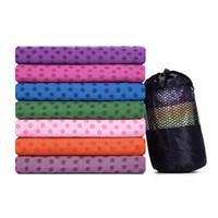 colchonetas de yoga cojín al por mayor-Multi función de Yoga Pad Sudor Toalla Sin Sabor Cojín Estera Adulta Alfombra de Silicona Ecológico Rojo Púrpura 21 5cd C1