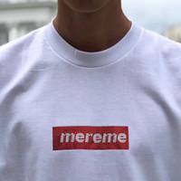 gömlek x s toptan satış-19SS Kutusu Logosu X Swaroovski 25th yıldönümü Tee Erkek Kadın Çift Yaz Moda Rahat Sokak T-shirt S-XL HFLSTX417
