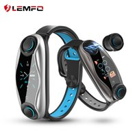 Wholesale chip tracker for sale - Group buy LEMFO LT04 Fitness Bracelet Wireless Bluetooth Earphone In Bluetooth Chip IP67 Waterproof Sport Smart Watch