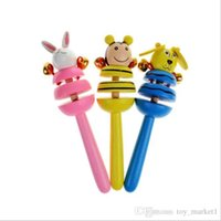 Wholesale puzzles c resale online - Handbell Early Education Puzzle Toys Colorful Cute Animal Rattles Newborn Toy Many Styles sw C R