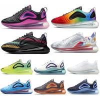 volt packen großhandel-Nike Air Max 720 Shoes 2019 720 Laufschuhe Herren Damen Nordlichter Neon Triple Schwarz Carbon Grau Sunset Corss Wandern Jogging Walking Sport Turnschuhe 36-45