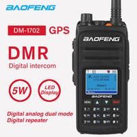 dijital telsiz telsizleri toptan satış-DMR DM-1702 GPS Walkie Talkie Baofeng Yüksek Güç İkili Zaman Yuvası Taşınabilir Dijital / Analog İki Yönlü CB Ham Radyo Telsiz DM1702