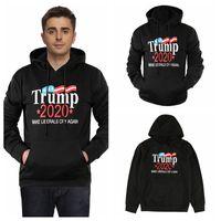 sudaderas de algodón para adultos al por mayor-Adulto Donald Trump 2020 Sudadera con capucha Unisex Sudaderas con capucha manga larga carta algodón con capucha envío gratis