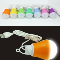 Wholesale usb bulb for power bank for sale - Group buy New Portable Lamp V W USB Bulb Light LED for Hiking Camping Tent Travel Work With Power Bank Notebook Color Random