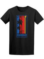 ingrosso shirt nuova immagine di design-Surf Hawaii Tee Uomini -Image Con Retro Tee Shirt nuovo modo di disegno