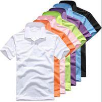 camisetas polo hombre al por mayor-18men polos de la marca de verano de cocodrilo bordado Polo hombres de manga corta camisas casuales Man's Solid Polo Shirt Plus 6XL hombres tees Camisa
