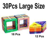 Wholesale large plastic building blocks for sale - Group buy 30Pcs Similar Magnetic Building Sets Blocks fancy Toys educational Large Size U