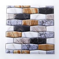 azulejos de cocina de mármol al por mayor-Protector contra salpicaduras autoadhesivo para salpicaduras de azulejos y paredes para papel de cocina de mármol (paquete de 6)