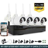 ingrosso kit di sicurezza esterna-Xtech 4CH Wireless 1080P NVR Kit per sistema di sicurezza CCTV per telecamera WIFI per esterni all'aperto
