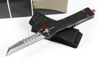 кемпинговые ножи из фарфора оптовых-Китай нож карманные АВТО ножи 7cr17mov лезвие с ЧПУ Сделать EDC открытый кемпинг тактический нож из алюминиевого сплава ручка высокого класса изысканный