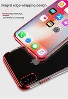 cajas de teléfono antichoque al por mayor-Nuevo diseño caja del teléfono electrochapa Colores Anti Shock Airbag suave para iPhone XR XS XR MAX X 8 7 Plus 6S samsung huawei iphone funda