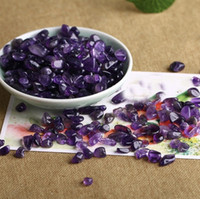 bergkristall-chips großhandel-Natürlicher Mini-Amethyst-Punkt-Quarzkristallstein-Stein bricht glückliches Heilen ab