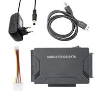 sata sürücü ide toptan satış-IDE / SATA Dönüştürücü Süper 5Gbps Transferi Harici Sabit Disk Adaptörü Kiti Plug için USB 3.0 4TB sürücü destekli oyna