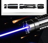ingrosso luci laser lazer-AAA Militari più potenti 100000m 450nm Puntatori laser blu luce Torcia elettrica malvagia LAZER Torch Hunting Camping Signal Lamp