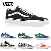 a436e0a695 Original Vans old skool sk8 hi mens womens canvas sneakers black white pink  YACHT CLUB Strawberry fashion skate casual shoes size 36-44