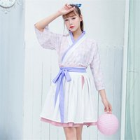 Wholesale costume summer resale online - Newly Fashion Woman Traditional Chinese Hanfu Sweety Stage Dance Costume Women Summer Print Outfits Fairy Clothes Dresses