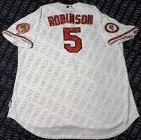 Wholesale brooks running for sale - Group buy 100 embroidery BROOKS ROBINSON Jersey Stitched customize any number name MEN Vintage Jersey NCAA JERSEY