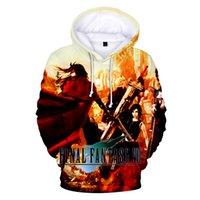 final fantezi oyunları toptan satış-2019 Oyunu Final Fantasy VII 3D Baskı Hoodies Adam Moda Kazak Yaratıcı Kazak Erkekler Oyun Harajuku Hoodie Hip Hop hoodies