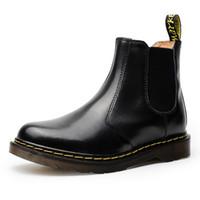 botas de tornozelo branco homens venda por atacado-35-46 Nova Marca Ankle Boots De Couro Outono Inverno Botas dos homens Das Mulheres Branco Da Motocicleta Ao Ar Livre de Trabalho de Neve Homens Sapatos