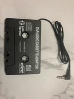 ipad auto audio großhandel-Neue Sender Hot Car Tape Kassette auf 3,5 mm Aux Audio Adapter für iPhone iPad Samsung MP3 MP4 Player mit Kleinkasten 001