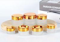 sombra de garrafa venda por atacado-Creme Garrafa Eye Creme Face Cream Foundation Pomada Pó solto Eyeshadow rodada de vidro Jars Pot 5g 10g 15g 20g 30g 50g 100g EEA1186-1