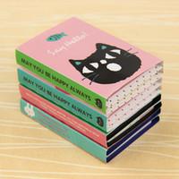 pegatinas de papelería al por mayor-En stock Etiqueta creativa Mini Animal Notas adhesivas 4 Bloc de notas plegables Regalos Papelería escolar Suministros cuadernos