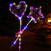 burbuja al por mayor-CRESTECH de LED se encienden Bobo Globos, 20 pulgadas de Bubble Bobo globos, globo de la fiesta de cumpleaños de Navidad Decoración Luz