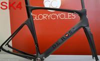 bicicleta de fibra de carbono preta fosca venda por atacado-De Rosa SK Pininfarina BOB quadros de Nero Terra quadro de carbono quadro de carbono de bicicleta de estrada de cor nova