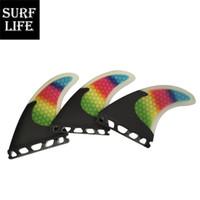 tri-barbatanas venda por atacado-Propulsores de surf multicoloridos barbatanas de fibra de vidro e carbono Base futura