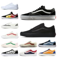 Wholesale black mens skate shoes resale online - 2019 Fear of God Old Skool Authentic Canvas Skate Shoes Mens Women Casual Shoes Running Shoes Trainer Sports Sneakers EUR