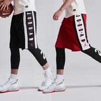 homem, shortinho, calças, desporto venda por atacado-Listrado carta imprimir calções de desporto para homens maré M-3XL homens calças de basculador novo hip hop casuais homens calções de basquete