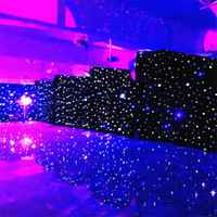 black stage curtains 2021 - 3mx6m LED Wedding Party Curtain LED Star Cloth Black Stage Backdrop LED Star Cloth Curtain Light Wedding Decoration