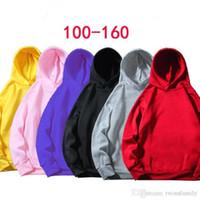 Wholesale kids velvet hoodies for sale - Group buy Kids Hoodies Sweatshirt Boys Designer Clothes Solid Velvet Coat Kindergarten Class Outwear Girls Fleece Jacket Tops Baby Casual Coat DYP7126