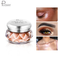 körpercreme marken großhandel-Marke Pudaier Bronzer Metallic iluminador Highlighter Powder maquiagem Glitter Gelee Gel Creme Body Shimmer Makeup