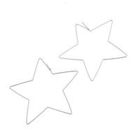 kalp şeklinde halka küpeleri toptan satış-1 pair Kadınlar Eardrop Kalp Yıldız Şekilli Punk Stil Takı Hollow Büyük Hoop Lady Küpe Fabala Için Parti Bırak Alaşım Geometrik