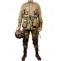 saha pantolonları toptan satış-ABD ORDUSU M41 Alan Ceket ve pantolon F / W M1928 M1 çelenk 10 sürüm D-DAY Yüksek Kalite