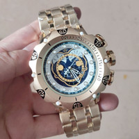 Wholesale strap for sell resale online - A3A good quality men invicta GOLD watches stainless steel strap Mens Watches Quartz Wristwatches relogies for men relojes Best Gift Hot Sell