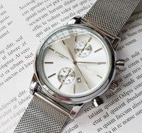 designers watches al por mayor-2019 hombres BOSS reloj de pulsera 43mm de acero Relojes de malla Reloj de cuarzo impermeable para hombres Relojes de diseño para hombre Relojes de lujo para hombre orologio
